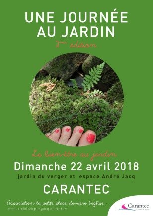 Une Journee Au Jardin-affiche-A3